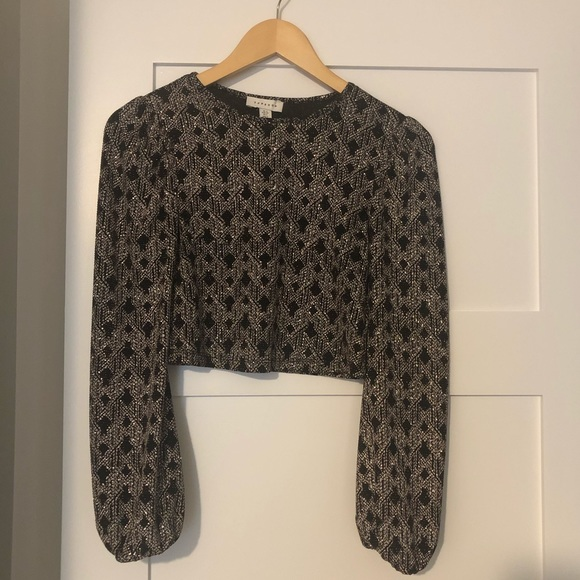 (2 for $20) Sparkly gold and black crop